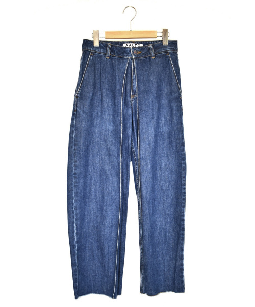 AALTO(アールト)AALTO (アールト) プリーツデニムパンツ インディゴ サイズ:W34の古着・服飾アイテム