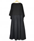 ELIN(エリン)の古着「コンビフレアドレス」|ブラック
