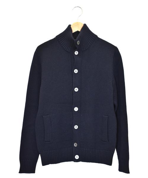 Zanone(ザノーネ)Zanone (ザノーネ) ミドルゲージニットカーディガン ネイビー サイズ:48の古着・服飾アイテム