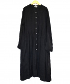 Veritecoeur(ヴェリテクール)の古着「リネンブラウスワンピース」|ブラック