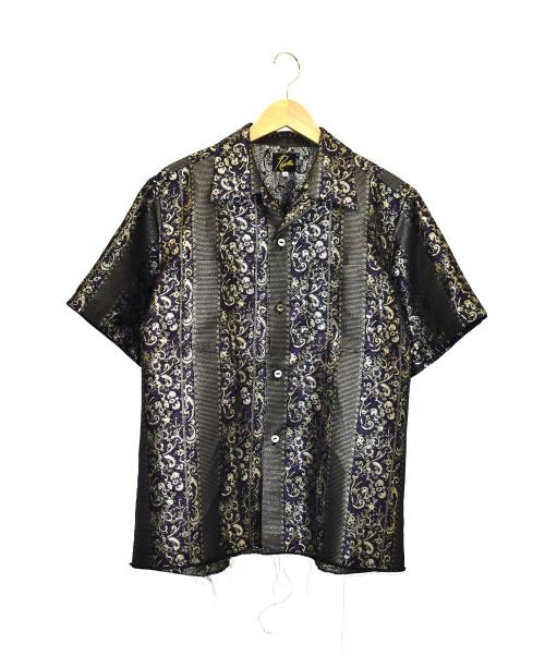 Needles(ニードルズ)Needles (ニードルズ) S/S One-Up Shirt パープル×ゴールド サイズ:S GL086の古着・服飾アイテム