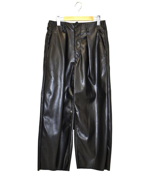 saby(サバイ)saby (サバイ) ウォッシャブルライトレザータックバギーパンツ ブラック サイズ:1(S) 21S-031801の古着・服飾アイテム
