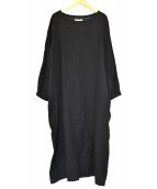 SOIL(ソイル)の古着「リネンブレンドワンピース」 ブラック