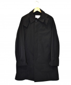 TOMORROW LAND()の古着「ポリエステルウェザーフーデッドステンカラーコート」|ブラック