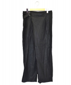 ()の古着「ベルテッドパンツ」|ブラック