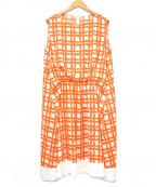 MOGA(モガ)の古着「ブラウスワンピース」|オレンジ