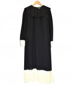 leur logette(ルルロジェッタ)の古着「ブラウスワンピース」 ブラック