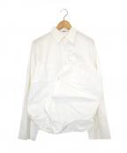 whowhat(フーワット)の古着「オーバーサイズ変形シャツ」|ホワイト