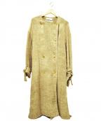 saqui(サキ)の古着「リネンコート」 ベージュ