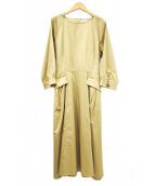SCAPA(スキャパ)の古着「サマンサポプリンワンピース」|ベージュ