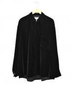 stein(シュタイン)の古着「Oversized Down Pat Velvet Shir」|ブラック