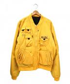 M+RC NOIR(マルシェノア)の古着「ミリタリーボンバージャケット」|イエロー