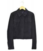 SPORT MAX CODE(スポーツマックスコード)の古着「スウェードレザージャケット」|ブラック