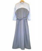 Ameri(アメリ)の古着「AFFOGATO SHIRT DRESS」|ブルー
