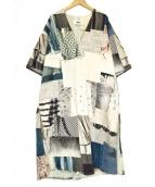 MM6 Maison Margiela(エムエムシックス メゾンマルジェラ)の古着「Veste Kimono Patchwork Remise」|ネイビー×グレー