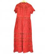 REKISAMI(レキサミ)の古着「ブラウスワンピース」|レッド
