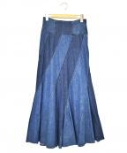 leur logette(ルルロジェッタ)の古着「デニムスカート」 インディゴ