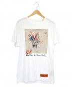 HERON PRESTON()の古着「プリントTシャツ」|ホワイト