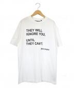 Palm Angels(パームエンジェルス)の古着「バラフライプリントTシャツ」|ホワイト