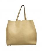 Valextra(ヴァレクストラ)の古着「ショッピングトートバッグ」|ベージュ