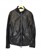 GIORGIO BRATO(ジョルジオ ブラッド)の古着「ラムレザージャケット」 ブラック