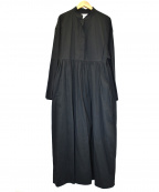 foufou(フーフー)の古着「ギャザーワンピース」 ブラック