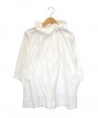 Yarmo(ヤーモ)の古着「ホスピタルスモッグブラウス」 ホワイト