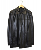yohji yamamoto A.A.R(ヨウジヤマモトアール)の古着「ジップアップレザージャケット」|ブラック