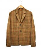 BARENA(バレナ)の古着「チェックジャケット」|ブラウン