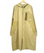 ()の古着「フーデッドコート」 ベージュ