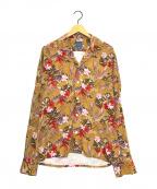 BARBA(バルバ)の古着「総柄レーヨンシャツ」|ブラウン