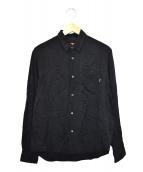 ()の古着「スネークスキンジャガードシャツ」 ブラック