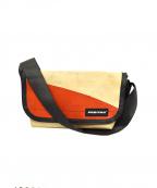 FREITAG(フライターグ)の古着「ミニメッセンジャーバッグ」|レッド×ベージュ