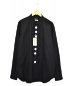 ()の古着「コットンシャツ」 ブラック