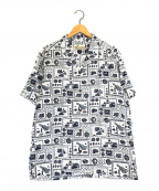 pataloha(パタロハ)の古着「アロハシャツ」|ホワイト×ネイビー