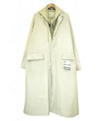 Maison MIHARA YASUHIRO(メゾン ミハラヤスヒロ)の古着「ドッキングフーデットコート」|グリーン×ホワイト