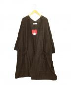 UNFIL(アンフィル)の古着「ロングカーディガン」|ブラウン