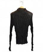 ISSEY MIYAKE FETE(イッセイミヤケフェット)の古着「シフォンプリーツカットソー」 ブラック