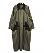 B Yohji Yamamoto(ビーヨウジヤマモト)の古着「ミリタリーラグランコート」 カーキ