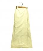 GALERIE VIE()の古着「コットンシルクラップマキシスカート」 アイボリー