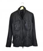 ripvanwinkle(リップヴァンウィンクル)の古着「レザージャケット」|ブラック