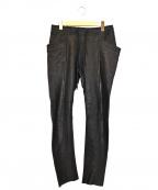 ripvanwinkle(リップヴァンウィンクル)の古着「レザーパンツ」|ブラック