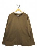 GRAMICCI()の古着「ジップジャケット」|ブラウン