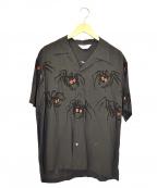 Star OF HOLLYWOOD(スターオブハリウッド)の古着「タランチュラオープンカラーシャツ」|グレー