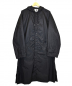 ALLEGE(アレッジ)の古着「フーデッドナイロンコート」 ブラック