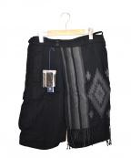 MIHARA YASUHIRO(ミハラヤスヒロ)の古着「ハーフパンツ」|ブラック