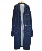 GANRYU(ガンリュウ)の古着「デニムラップコート」 インディゴ