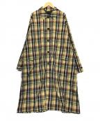 BEAMS(ビームス)の古着「タータンチェックコート」 ベージュ