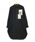 OPENING CEREMONY(オープニングセレモニー)の古着「ハーフジップロングシャツ」|ブラック