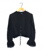 ELIN(エリン)の古着「ロングスリーブブラウス」|ブラック